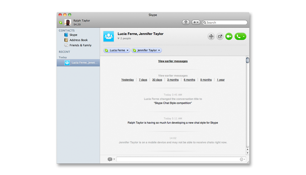 Screenshot Skype - Plain Modern